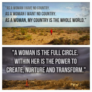 """Women hold up half the sky."""" ~ Chinese proverb"""