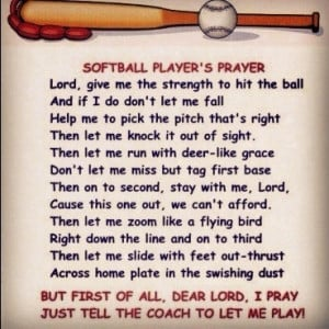 Softball players prayer
