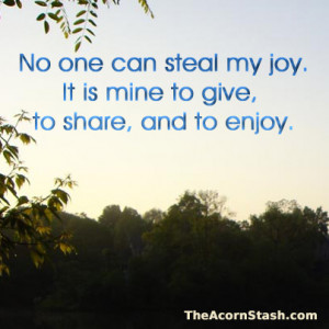 No one can steal my joy - Affirmation