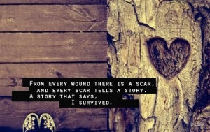 cute, heart, nature, quote, scars, text, wounds