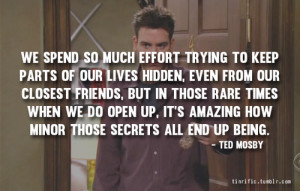 how i met your mother, himym, himym quote, quote, quotes, ted mosby ...