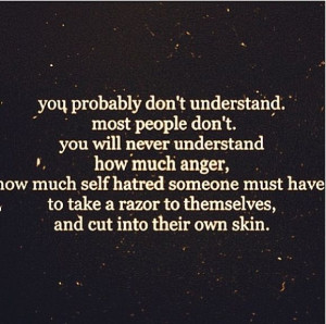 Quotes About Self Harm And Depression Quotes About Self. Quo...