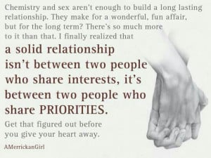 Build a Solid Relationship....