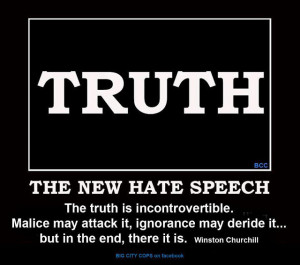 Truth the new hate speech the truth is incontrovertible malice may ...