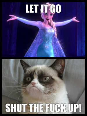 Grumpy Cat Quotes Frozen Elsa