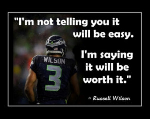 Football Leadership Poster Russell Wilson Seattle Seahawks Photo Quote ...