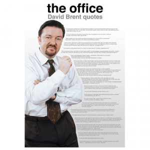 Title: The Office UK (David Brent Quotes) TV Poster Print