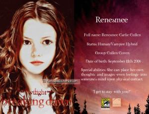 Renesmee Carlie Cullen Renesmee