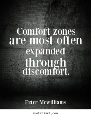 Make poster quotes about inspirational - Comfort zones are most often ...