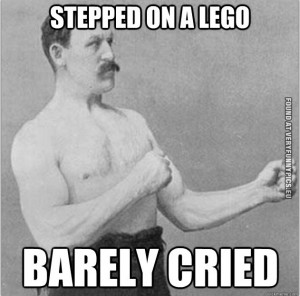 Funny Picture – Stepped on a Lego - Barely cried