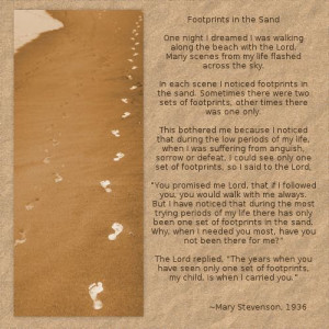 footprints in the sand poem footprints in the sand digital scrapbook ...