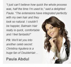 As used by Alexanda Burke, Christina Aguilera and Paula Abdul, who ...