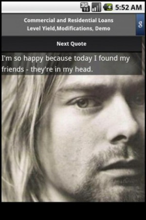 View bigger - Kurt Cobain quotes for Android screenshot