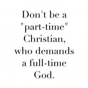 Part-Time Christians