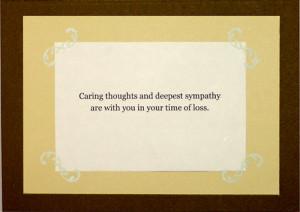 sympathy cards verses