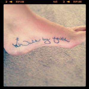 ... Tattoo'S, Anchors Tattoo'S, Faith Tattoos, Walks By Faith Tattoo'S