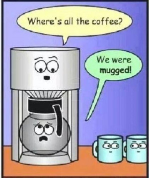 Funny coffee cartoon