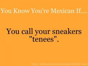 You know you're Mexican if..You call your sneakers