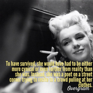 Marilyn Monroe, ladies and gentleman. Quote from Arthur Miller.