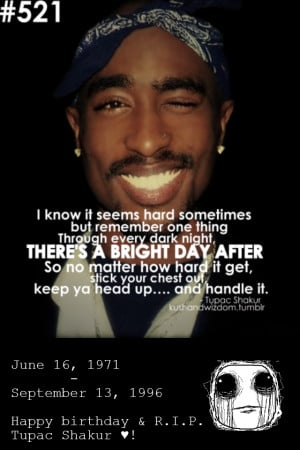Tupac Amaru Shakur. Let's all remember the birthday of the best rapper ...
