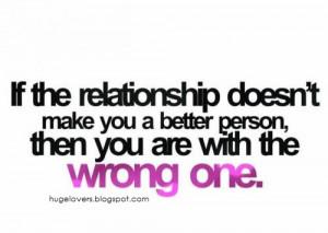 Wrong Relationships make wrong choices