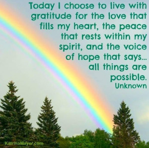Living in gratitude :-)