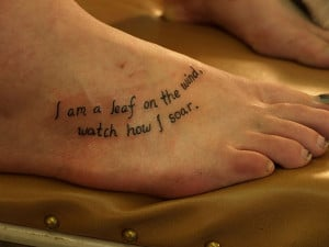 25 Refined Foot Tattoos Quotes - 20