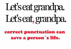 Writing Punctuation poster