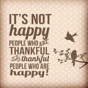 Real Lesson in being Thankful