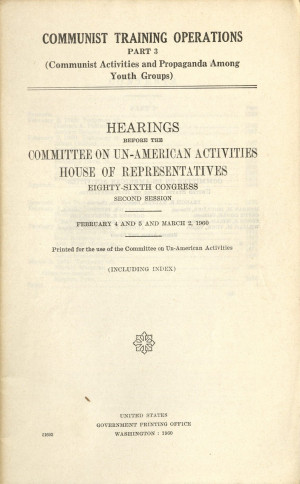 House Un American Activities Committee 1947 To the house un-american