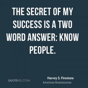 Harvey S. Firestone Success Quotes