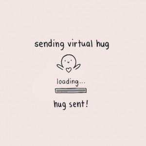 Hug Quotes Sending virtual hug quote