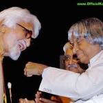 Abdul Kalam with M. F. Husain – File Photo