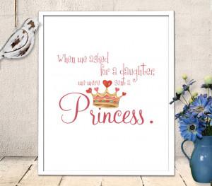 Nursery Art Printable - Baby Girl Princess Quote - wall art quote ...