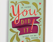 You Did It Congratulations Card 151-C
