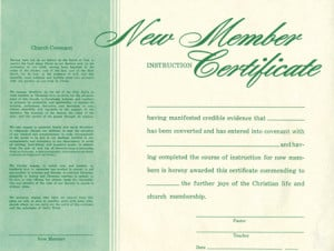 church membership certificate template free
