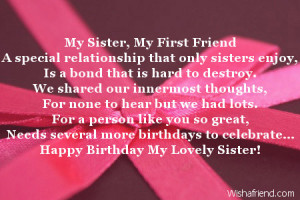 Happy Birthday Little Sister Poems Sister birthday poems