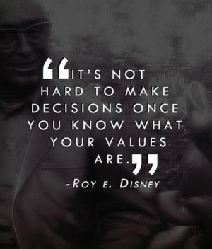 Once you know what your values are quote