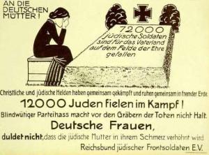 Mothermourning fallen WW1 German Jewish Soldiers (1920)