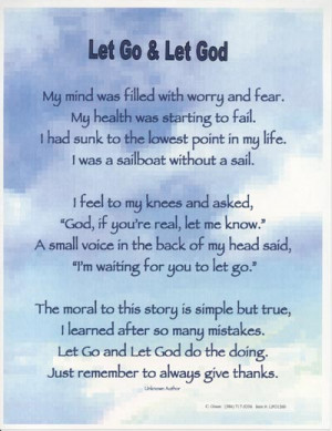 Let Go and Let God Prayer