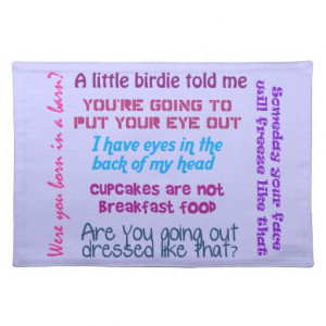 Mom Quotes Placemat