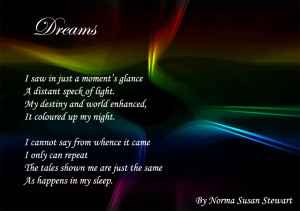 dreams poetry by patricia walter 2007 dreams dreams embrace the night ...