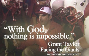 Facing the Giants I serve an amazing God