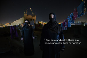 feel safe and calm, there are no sounds of bullets or bombs