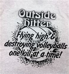 Athletic Grey Outside Hitter Tee More