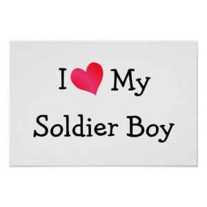 Miss My Soldier Graphics I love my soldier boy print