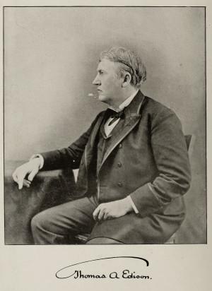 Thomas Edison circa 1892 from Cassier