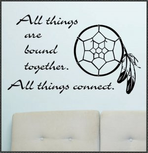Vinyl Wall Quotes Decals Dreamcatcher All things Connect