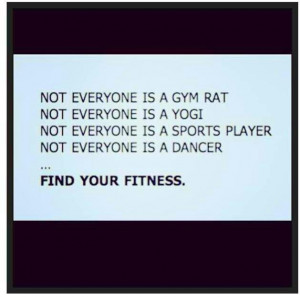 Find your fitness