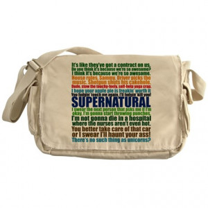Supernatural Quotes Messenger Bag
